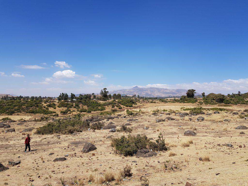 zona sur de etiopia, paisaje volcánico